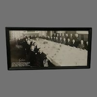 Vintage Framed Photograph of Luncheon to Honor Stanley Reed (ART10082)