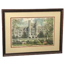 """Duke University """"The Medical School"""" Print (ART10083)"""
