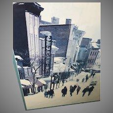 "Fred J. Maroon ""Winter in Georgetown"" Framed Poster (ART10086)"