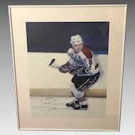 "Thomas A. Needham ""On the Prowl"" Hockey Player Offset Lithograph (ART10088)"