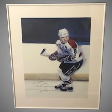 """Thomas A. Needham """"On the Prowl"""" Hockey Player Offset Lithograph (ART10088)"""