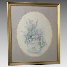 "Mary Vincent Bertrand ""Tulips"" Watercolor Print (ART10089)"