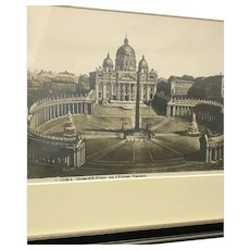 30% Off Intro Special EXTENDED! Circa 1870 Photograph of an 1810 Colorized Magazine Etching of St. Peter's basilica (ART10099)