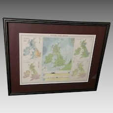 "Vintage ""The Citizen's Atlas"" Map of The British Isles (ART10109)"