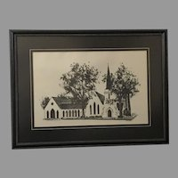 "Chris Rough Baschon ""Church"" Lithograph (ART10110)"