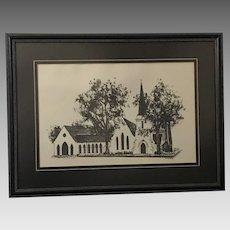 "Chris Rough Baschon ""Church"" Lithograph (ART10110)"