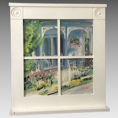 "Dalton ""Front Porch"" Print in Window-like Frame (ART10113)"