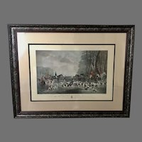 "George Wright ""The Meet At Blagdon"" 19th Century Framed Engraving (ART10114)"