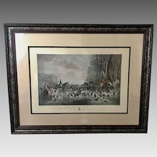 """George Wright """"The Meet At Blagdon"""" 19th Century Framed Engraving (ART10114)"""