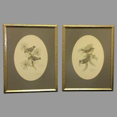 "Pair of 1978 Don Whitlatch numbered lithographs entitled: ""Golden-crowned kinglet"" and ""Ruby-crowned kinglet"" (ART10120) on SALE Thru 12-17-2020"