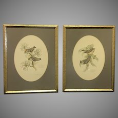 "Pair of 1978 Don Whitlatch numbered lithographs entitled: ""Golden-crowned kinglet"" and ""Ruby-crowned kinglet"" (ART10120)"