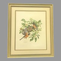 "Circa 1974 Don Whitlatch ""Robins"" Lithograph (ART10121) on SALE Thru 12-17-2020"