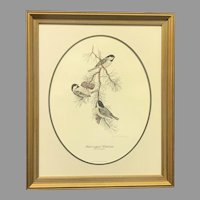 "Don Whitlatch ""Black-Capped Chickadee"" Numbered Lithograph (ART10122) on SALE Thru 12-17-2020"