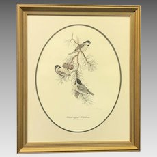 """30% Off Intro Special EXTENDED! Don Whitlatch """"Black-Capped Chickadee"""" Numbered Lithograph (ART10122)"""