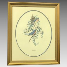 """30% Off Intro Special EXTENDED! Don Whitlatch """"Bluebird"""" Signed and Numbered Lithograph (ART10123)"""