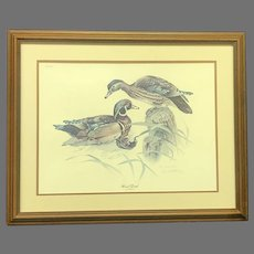 """Don Whitlatch Signed and Numbered """"Wood Duck"""" Lithograph (ART10124)"""