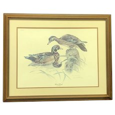 """30% Off Intro Special EXTENDED! Don Whitlatch Signed and Numbered """"Wood Duck"""" Lithograph (ART10124)"""