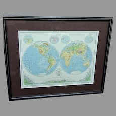 """Remember that PayPal offers 6 months same as cash!! The Citizen's Atlas """"World-Physical"""" Map (ART10127)"""