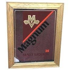 30% Off Intro Special EXTENDED! Circa 1980's Magnum Malt Liquor mirror (ART10128)