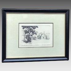 """30% Off Intro Special EXTENDED! A. Van Groot: """"Small Farm, Sussex"""" Signed and Numbered Etching with Certificate of Authenticity (ART10129)"""