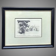 """A. Van Groot: """"Small Farm, Sussex"""" Signed and Numbered Etching with Certificate of Authenticity (ART10129)"""