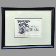 "A. Van Groot: ""Small Farm, Sussex"" Signed and Numbered Etching with Certificate of Authenticity (ART10129)"