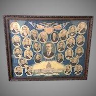"E.G. (Edward George) Renesch: ""All Our Presidents"" Circa 1919 Print (ART10132)"