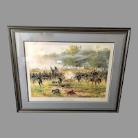 "Thur de Thulstrupe: ""Battle of Antietam"" Framed and Matted Lithograph Civil War Art (ART10134)"