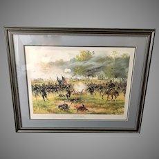 """Thur de Thulstrupe: """"Battle of Antietam"""" Framed and Matted Lithograph Civil War Art (ART10134)"""