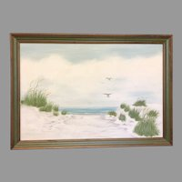 "Beverly Peet ""Beachscape"" Oil on Canvas Framed Painting (ART10135)"