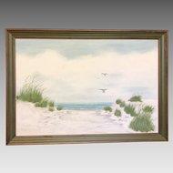 "Beverly Peet ""Beachscape"" Oil on Canvas Framed Painting (ART10135)"