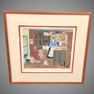 """Vintage Will Moses """"Pie Pantry"""" Signed Lithograph (ART10138)"""