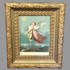 """Vintage Wilhelm von Kaulbach """"Zu Gott"""" Framed Print (ART10140)"""