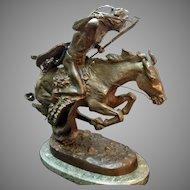 "Estate Frederic Remington ""The Cheyenne"" Bronze Collectible Statue Circa 1962 (ART10143)"