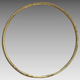 Detailed 18K Yellow Gold Bangle Bracelet (BRA10023)