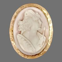 Antique Cameo 14ky: Athena (Goddess of War) (CAMPEN10039)