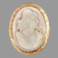 Antique Cameo 14ky: Athena (Goddess of War) (CAMPEN10039) on SALE NOW