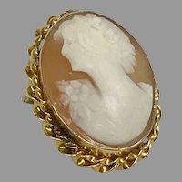 Vintage 1920's Natural Shell Cameo 10KY (CAMPEN10042)