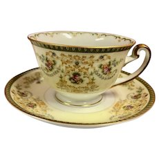 Vintage Charm (F&B Japan) by Meito China Cup and Saucer Sets Circa 1940's (CHIN10014)