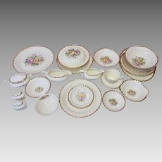 Vintage Royal China Co. Quban Royal China 22karat Gold rimmed 116 Piece Set (CHIN10016)