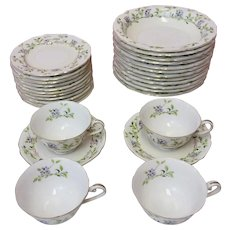 "Vintage Aladdin ""Forget Me Not"" Fine China Set (CHIN10018)"
