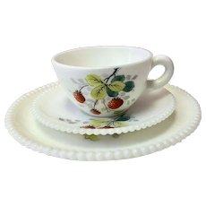 China, Fine China, Vintage China, Westmoreland China, Westmoreland Beaded Edge Fruit, Westmoreland Beaded Edge, Strawberries (CHIN10025)