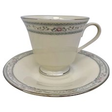 Vintage Lenox Charleston Footed Cup and Saucer Set (CHIN10028a) 5 AVAILABLE!