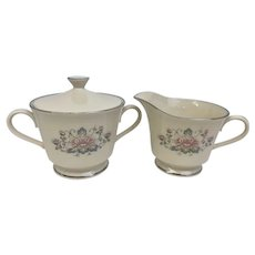 Vintage Lenox Charleston Covered Sugar Bowl and Creamer (CHIN10028c)