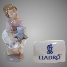 "Best Friend - Lladro porcelain figurine 1993 #7620 - 6.5"" tall - mint condition - COLT10001"