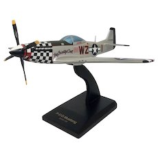 Vintage P-51D Mustang Hand-Crafted Wooden Model Airplane Fighter Jet Authentic (COLT10166)