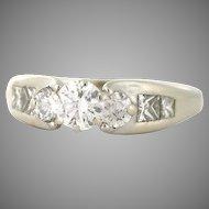 Unique Diamond Engagement Ring 1.25tcw in 18k white gold (DIAR10058)