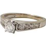 Christmas SALE 50% OFF Estate Bridal Fine Diamonds 0.50tcw 14k White Gold (DIAR10203)