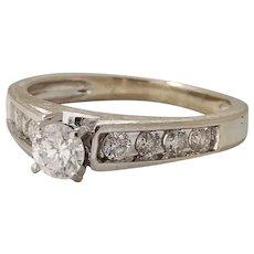 Estate Bridal Fine Diamonds 0.50tcw 14k White Gold (DIAR10203) on SALE NOW
