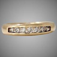 Estate 14K Yellow Band with 0.50 Diamonds (DIAR10237)